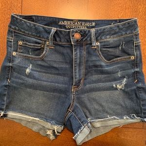 American Eagle Hi-Rise Jean Shorties